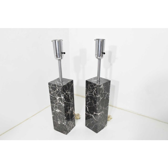 Black Marble Table Lamps by Nessen Studio - a Pair For Sale - Image 8 of 12