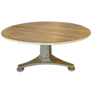 Swedish Style Contemporary Alder-Wood Round Dining Table For Sale