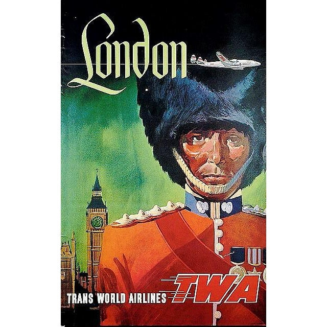 Matted and Framed Vintage London Travel Poster - Image 2 of 3