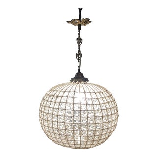 Ball Sphere Crystal Chandelier For Sale
