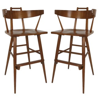 Pair of Bar Stools in the Style of Paul McCobb For Sale