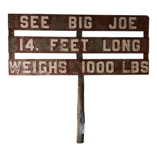 1960s Roadside Attraction Advertising Sign With License Plates For Sale