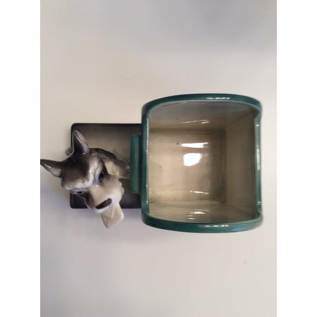 78955d125ff 1950s Vintage Scottie Dog & Mailbox Ceramic Planter Holder For Sale - Image  5 ...
