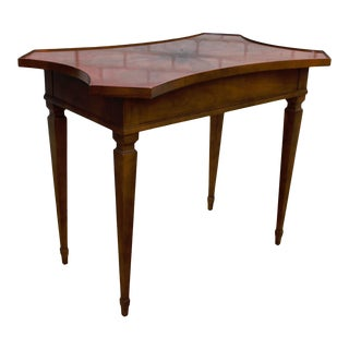 1980s Baker Furniture Federal Heckman Inlaid Tea Side Table For Sale