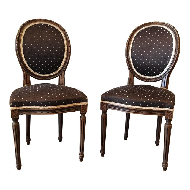 Queen Anne Side Chairs - A Pair - Image 1 of 8