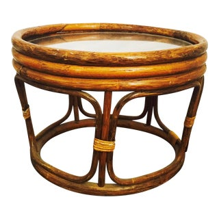 Vintage Bent Bamboo Side Table