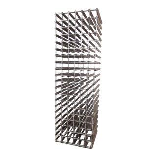 Stylish Rustic Modern Wood and Metal Wine Rack