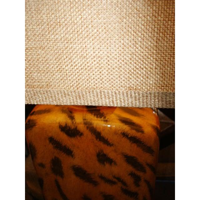 Modern Cheetah Print Lamp - Image 2 of 3