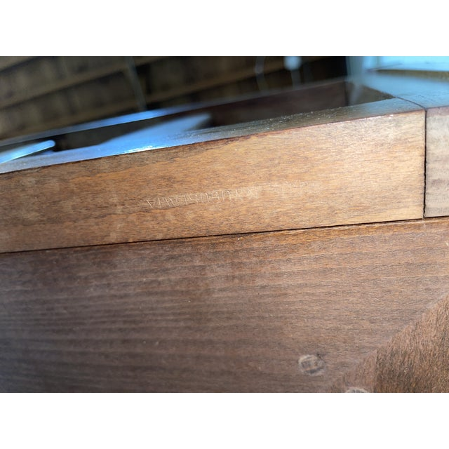Mid Century Walnut Sofa Daybed Yugoslavia For Sale - Image 10 of 11