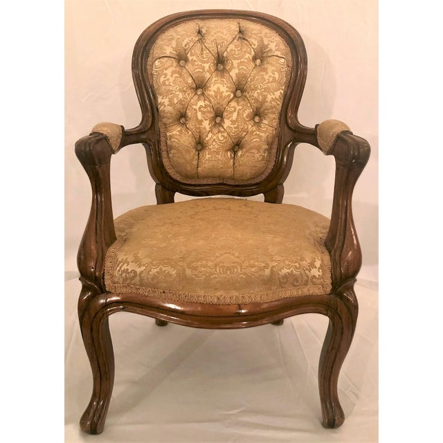 Antique French Rosewood Child's Chair. For Sale - Image 4 of 4