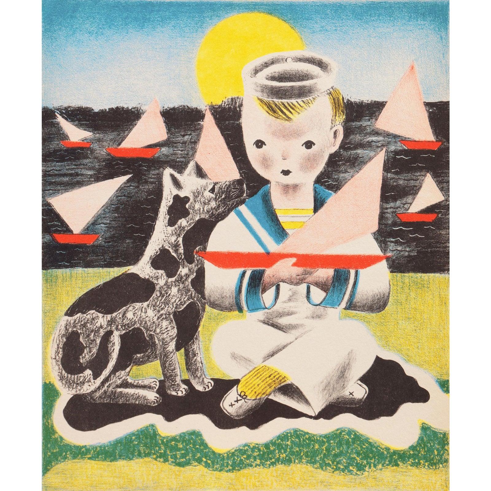 'Edward' by Nura Ulreich, 1943, Art Student's League, Salon D'Automne, Art Deco, Paris   Chairish