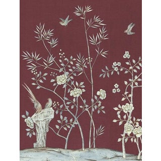 Casa Cosima Claret Brighton Wallpaper Mural - Sample For Sale