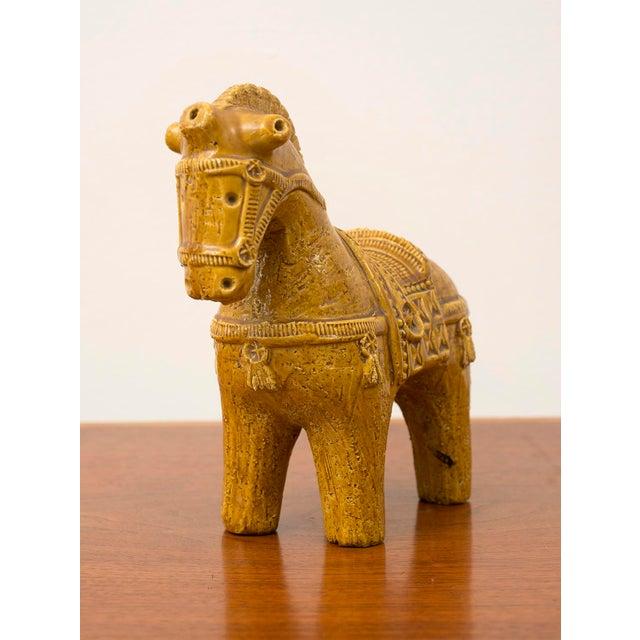 Ceramic Ceramic Dog and Horse by Aldo Londi in Rare Mustard Glaze for Bitossi, Italy, 1960s For Sale - Image 7 of 13