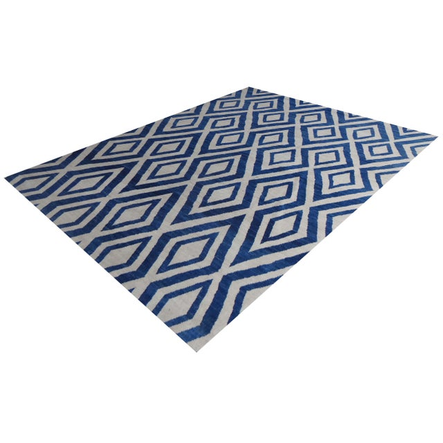 Hand knotted of top quality natural dyed wool and cotton in Afghanistan. This unique and innovative Navajo Rug is an eye...