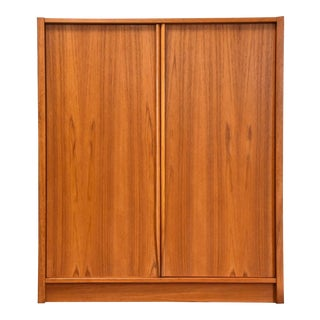 Danish Teak Armoire Dresser For Sale