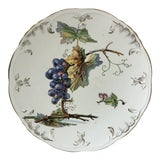 Image of 1900 Villeroy & Boch Faience Grapes Plate For Sale