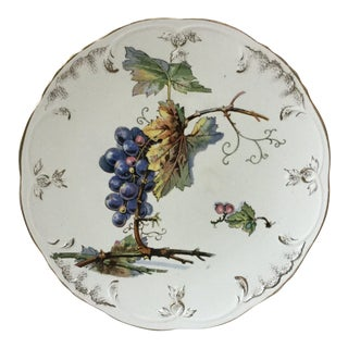 1900 Villeroy & Boch Faience Grapes Plate For Sale