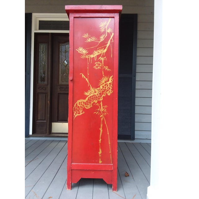 1960s Red Dragon Wine Cabinet For Sale - Image 5 of 11