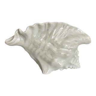 1960's Ceramic Conch Shell Planter For Sale