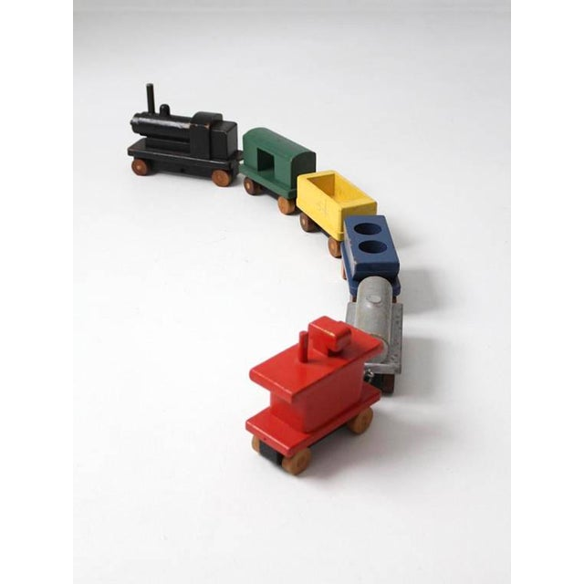 Vintage Wooden Toy Train For Sale - Image 4 of 8