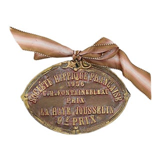 1956 French Horse Show Trophy Plaque For Sale