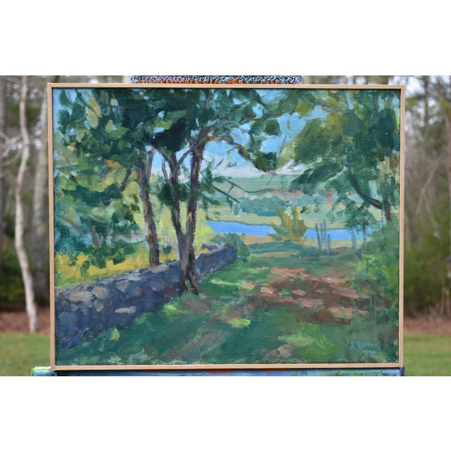 """""""River View"""" Contemporary Landscape AcrylicPainting by Stephen Remick, Framed For Sale - Image 10 of 10"""
