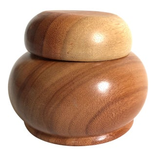 Mid-Century Danish Modern Wooden Jar For Sale