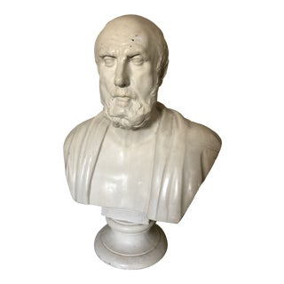 Plaster Bust of Hippocrates For Sale