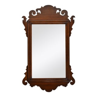Antique 19th-Century Walnut Chippendale Mirror For Sale