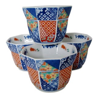 Imari-Style Cachepots - Set of 4 For Sale