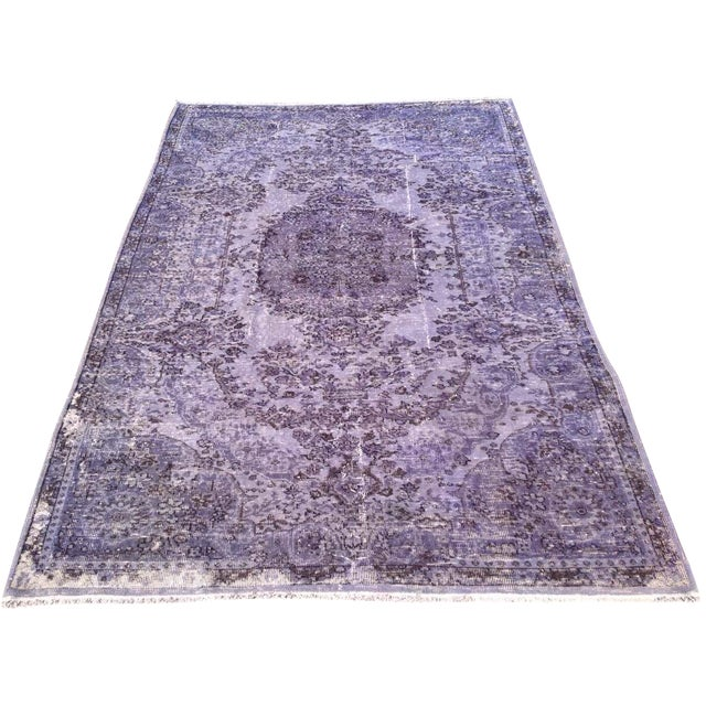 Over-Dyed Turkish Rug - 5′1″ × 8′1″ - Image 1 of 7