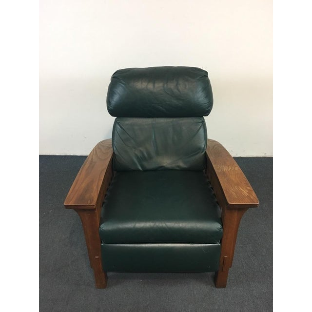 Add this wonderful Mission Style Black Leather Recliner to your decor for a stylish and comfortable place to sit. Full of...
