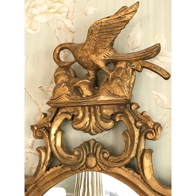 Early 21st Century Rococo Ornate Carved Gilt-Wood Mirror For Sale - Image 5 of 9