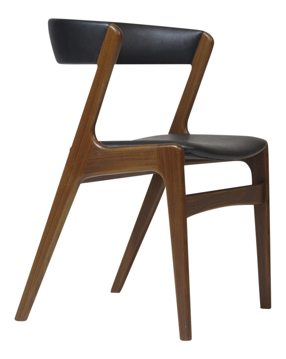Superior Customizable Danish Walnut Curved Back Dining Chairs   Image 1 Of 10