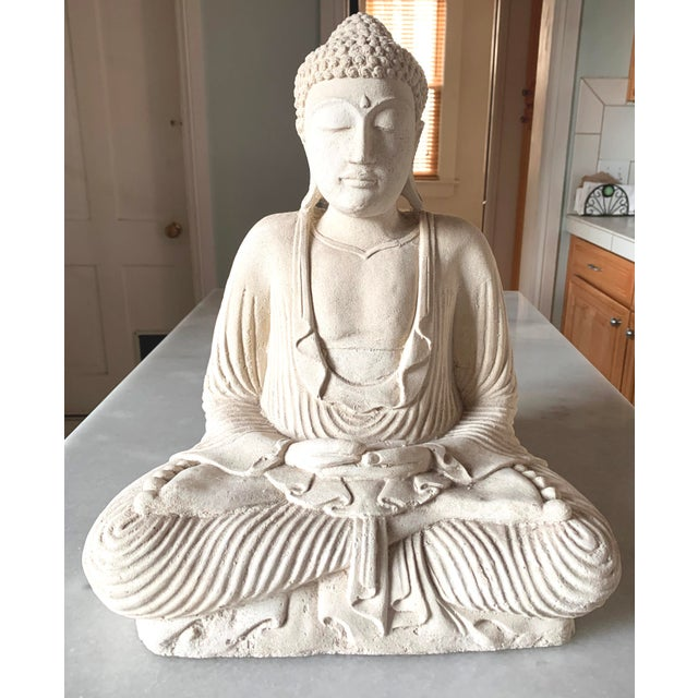 Large Stone and Plaster Cast Buddha For Sale - Image 13 of 13