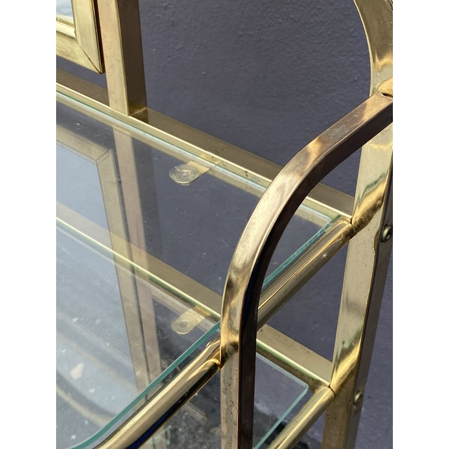 Mid Century Brass Vanity Table and Chair For Sale - Image 10 of 13