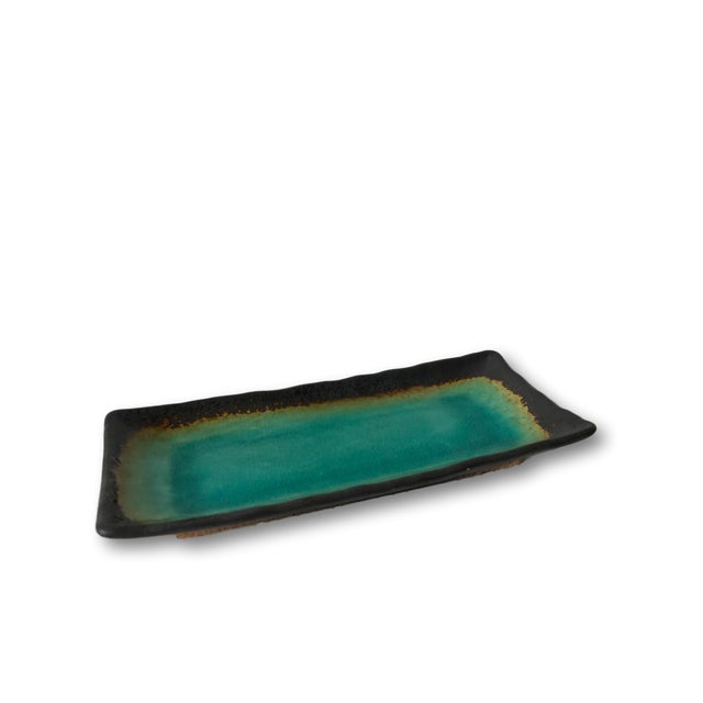 Turquoise Crackled Catchall Tray - Image 5 of 5