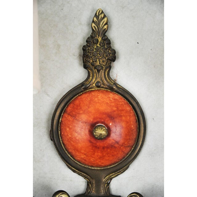 French Vintage Brass Two Candle Traditional Wall Sconces - a Pair For Sale - Image 3 of 8