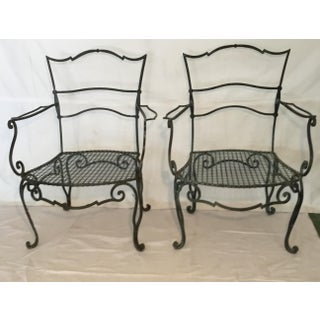 1940s Vintage French Iron Chairs - a Pair Preview