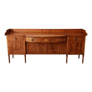 1820s English Inlaid Mahogany Sideboard For Sale