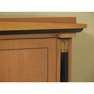 French Empire Baker Satinwood Linen Press Armoire Preview