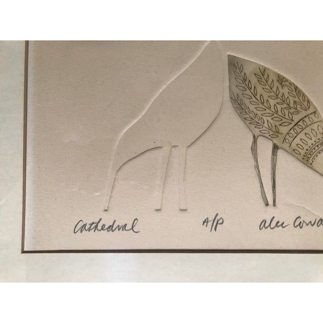 """Alec Cowan """"Cathedral"""" Block Print For Sale - Image 4 of 11"""