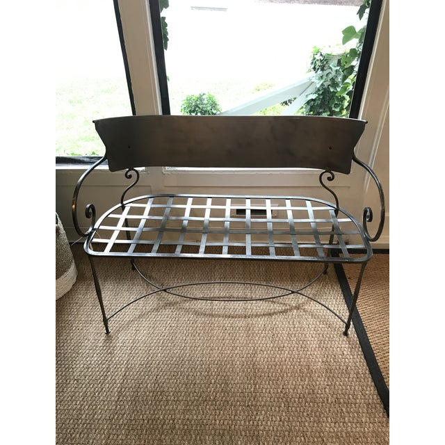1970s Traditional Metal Indoor/Outdoor Bench For Sale - Image 5 of 7