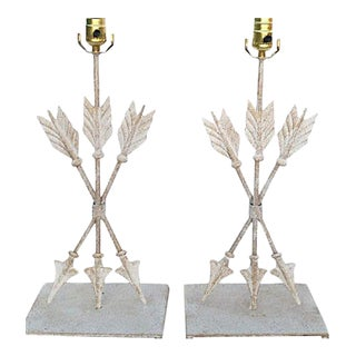 Iron Arrow Lamps - A Pair