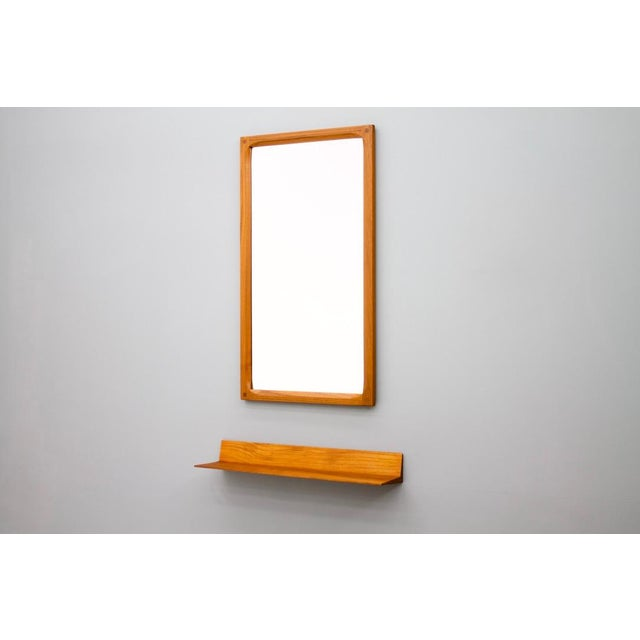 Teak Mirror and Console by Aksel Kjersgaard & Poss. Copenhagen Denmark 1960s For Sale - Image 11 of 11