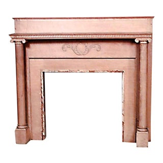 Country Style Stripped Mantel For Sale