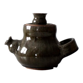 Studio Pottery Teapot Ca 1976 For Sale