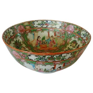 Rose Canton Bowl For Sale