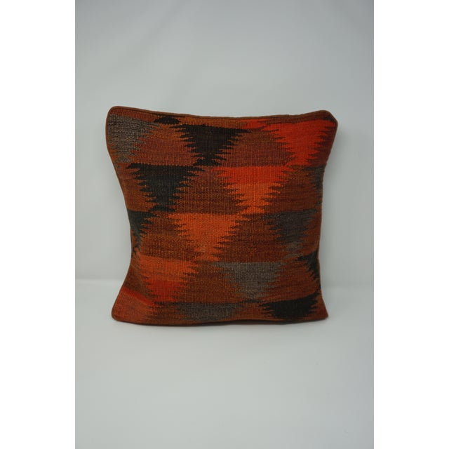 Vintage Turkish Kilim Pillow Cover For Sale In Orlando - Image 6 of 6