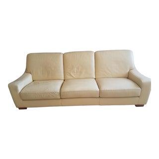 Mid Century Modern Roche Bobois Leather Sofa For Sale